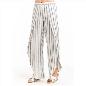 ANTHROPOLOGIE Drew Whitney Striped Linen Pants M